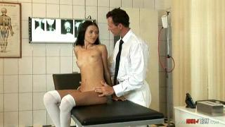 Sasha Rose gets examined