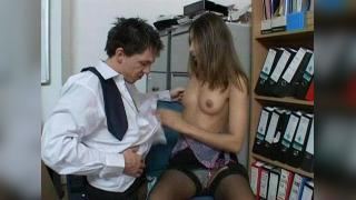 Sahara Knite Office Threesome