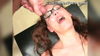 Cum on her face allcum18