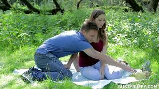 Lucie Wilde Outdoor Sex With Busty Whore