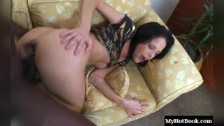 Aliz is a skinny and petite brunette MILF that loves her some black