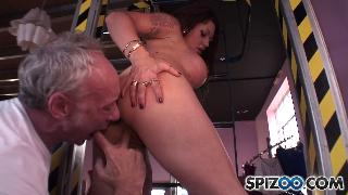 Deep throating brunette Ely Pink.HDRip.